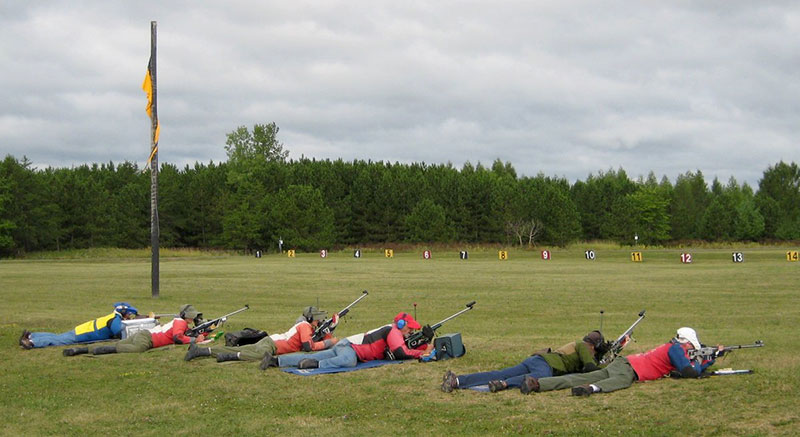 A rifle match in progress.